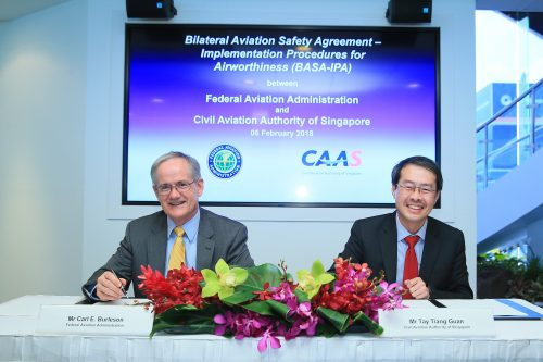 Civil Aviation Authority Of Singapore Signs Several Civil Aviation